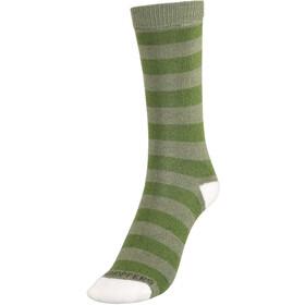 Craghoppers NosiLife Travel Socks Kids Twin Pack Dark Khaki/Spiced Lime Plain & Stripe